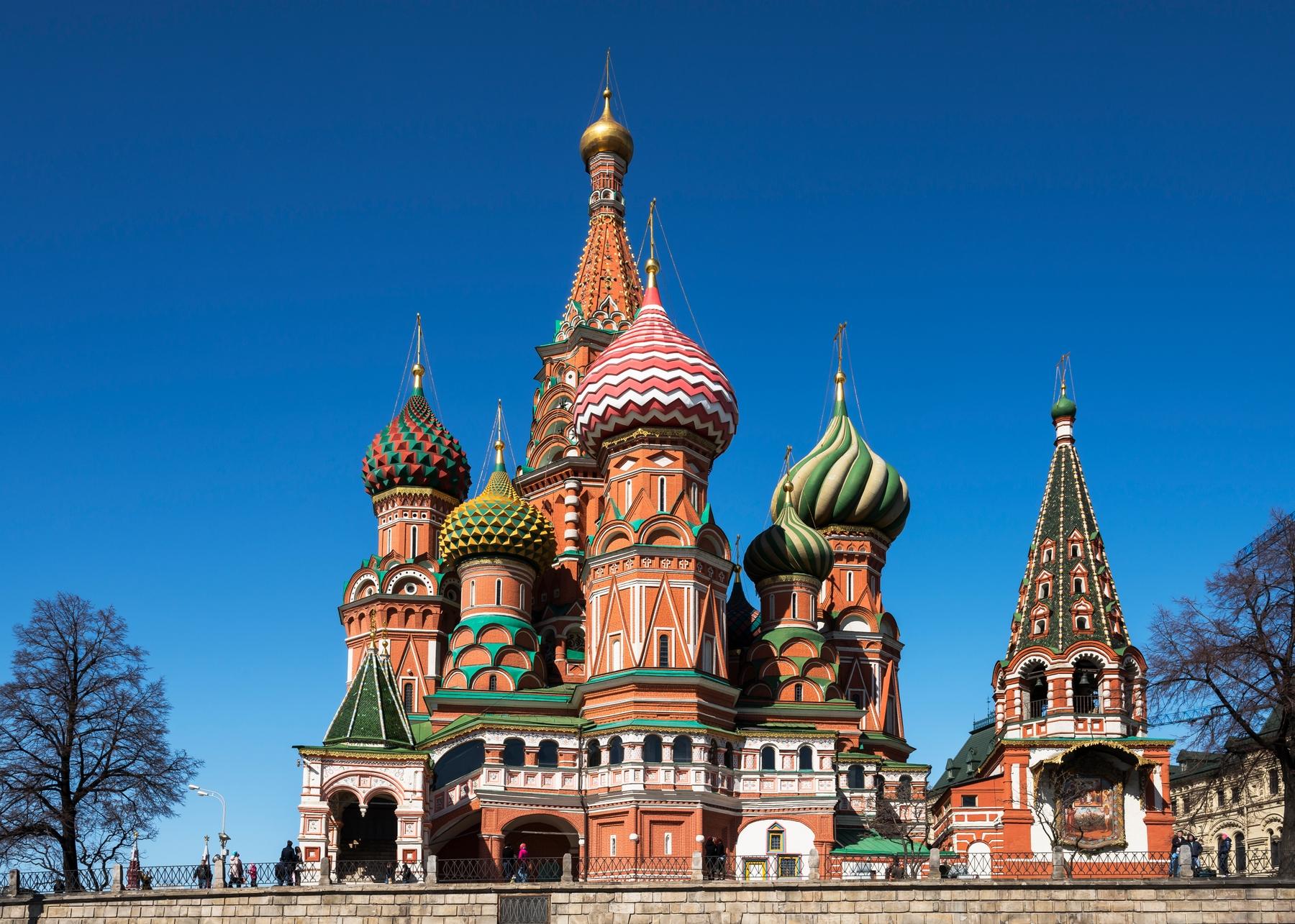 Países más grandes: Catedral de San Basilio en Moscú, Rusia