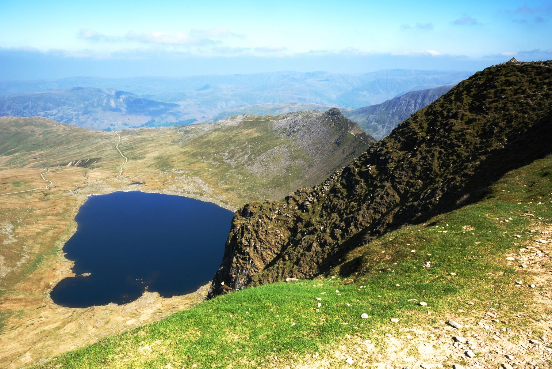 Striding Edge, a popular destination for scrambling in England's Lake District