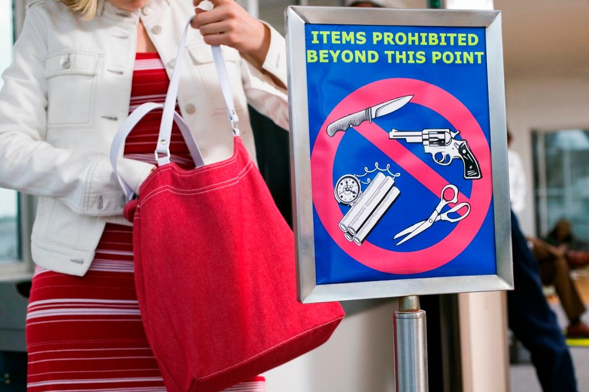 ítems prohibidos arriba del avión