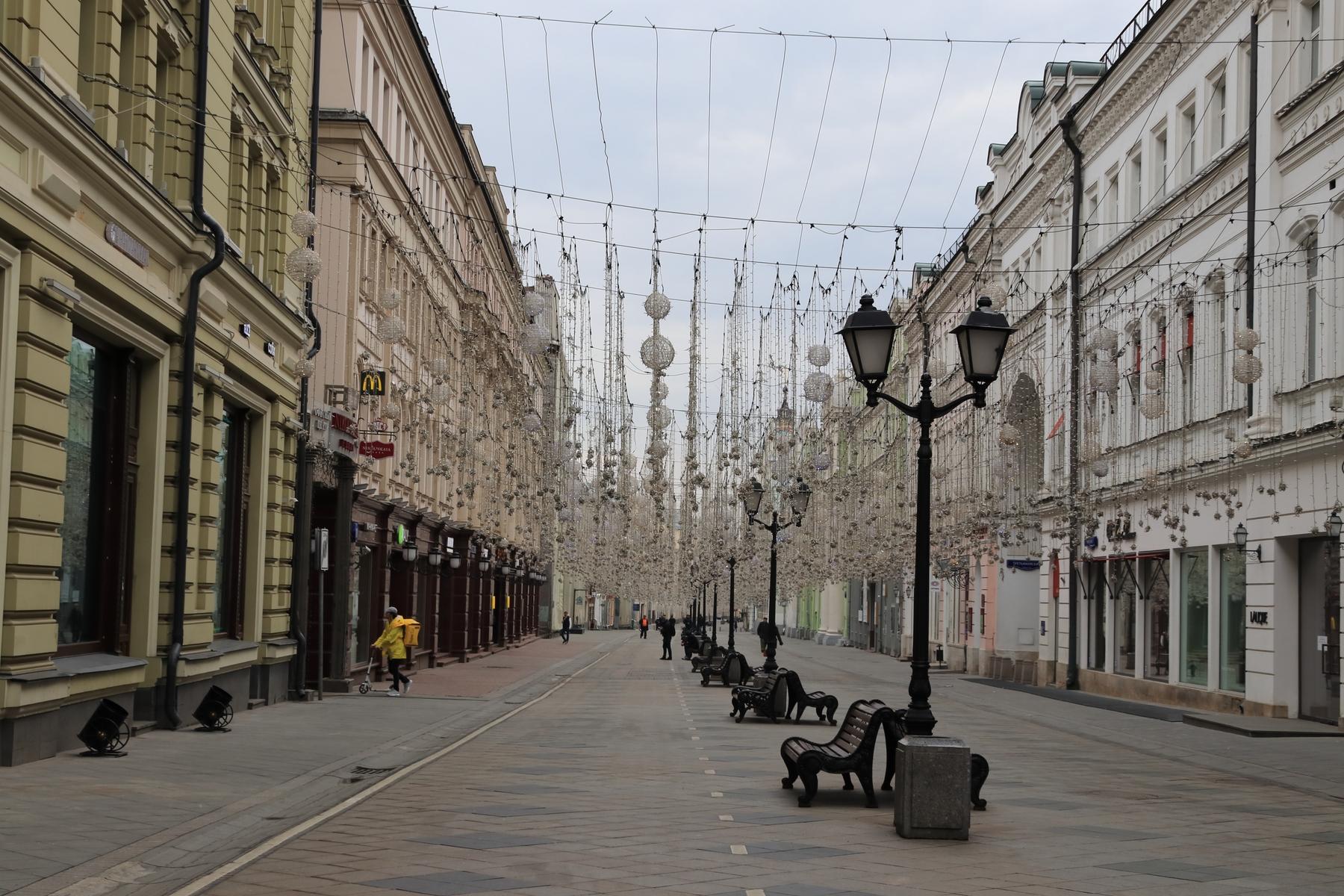 Период самоизоляции в Москве.