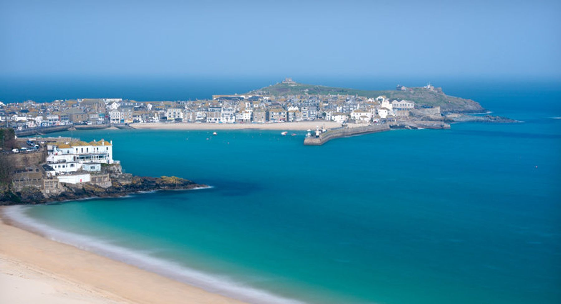 View of the charming coastal town of St. Ives, Cornwall, England