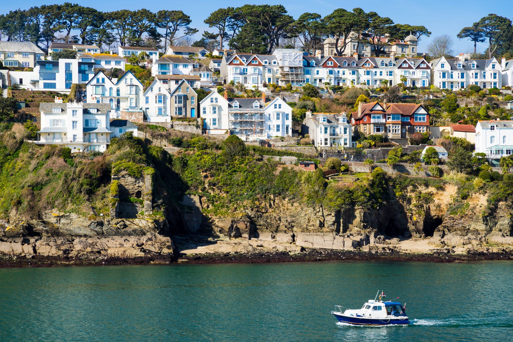 One of Cornwall's most popular   spots, Fowey, as seen from Polruan