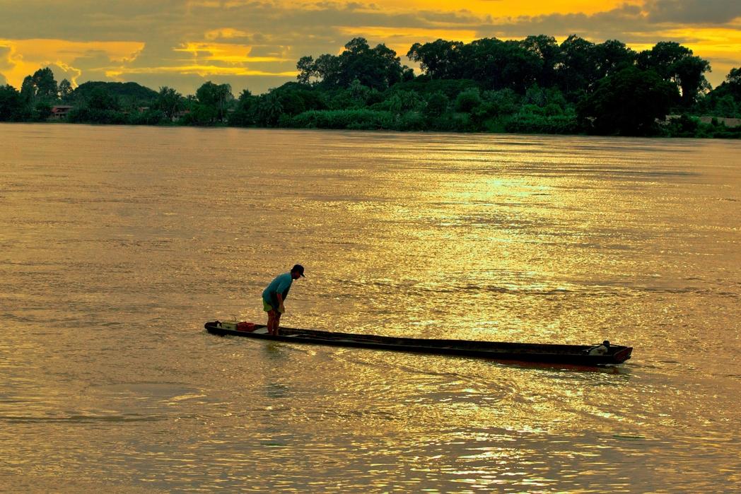 Βόλτα με βάρκα στον ποταμό Μεκόνγκ
