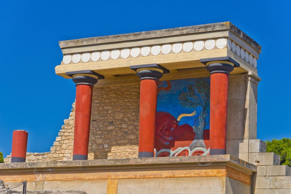 Knossos, one of the most visited ancient monuments in Crete, Greece