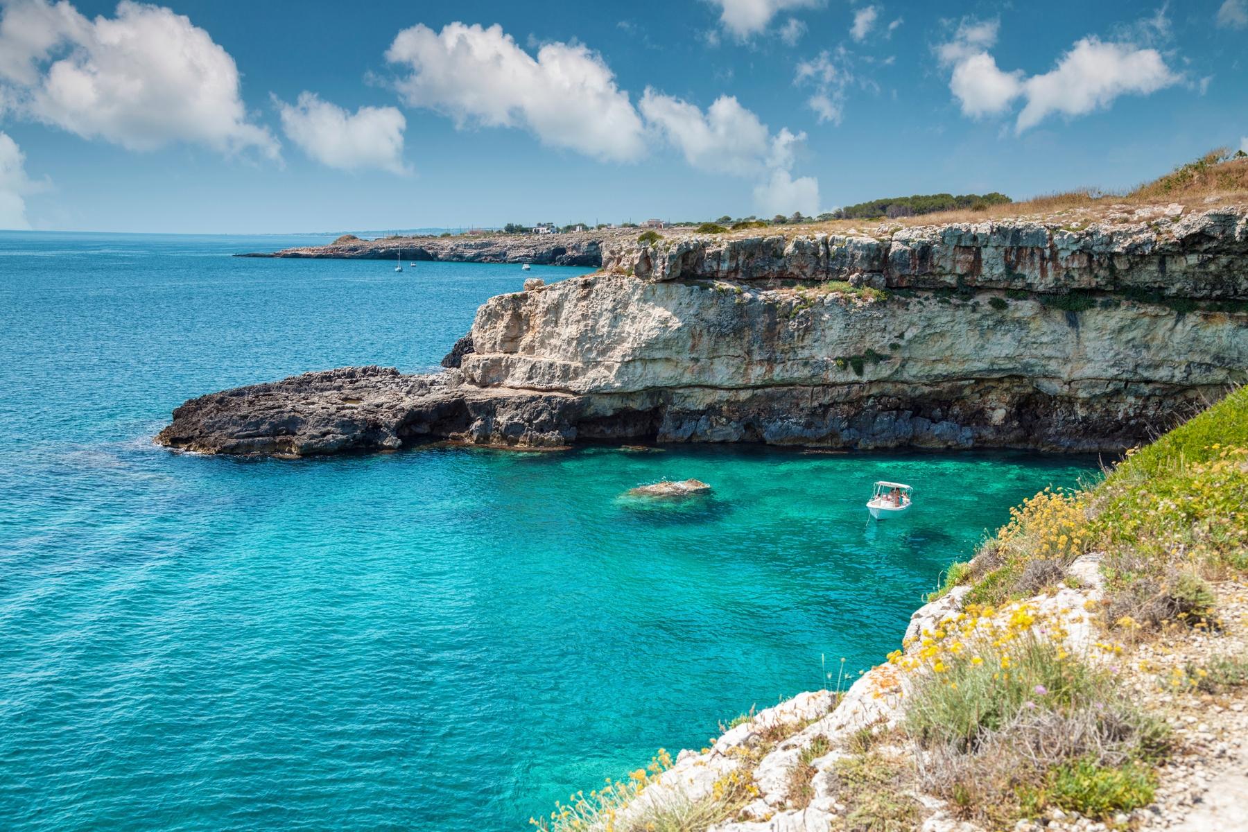 Bahías cerca de Otranto