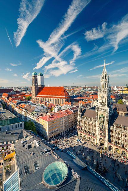 Πανοραμική θέα της Marienplatz - 15 προτάσεις για ένα ταξίδι στο Μόναχο