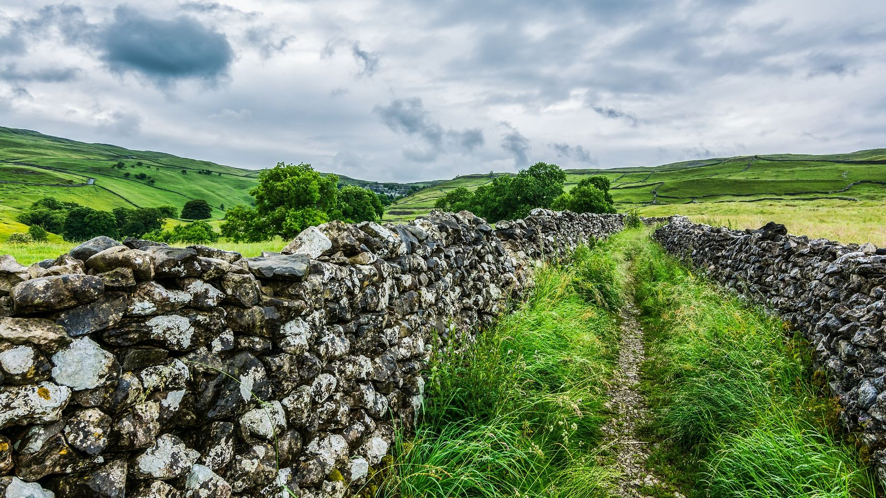 Stone wall near Malham, Yorkshire