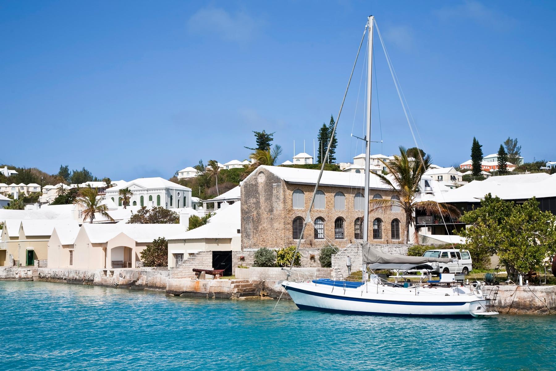 Píer em St. George's, no nordeste da ilha. Bermudas é outra ilha caribenha que abriu as portas para o trabalho remoto.