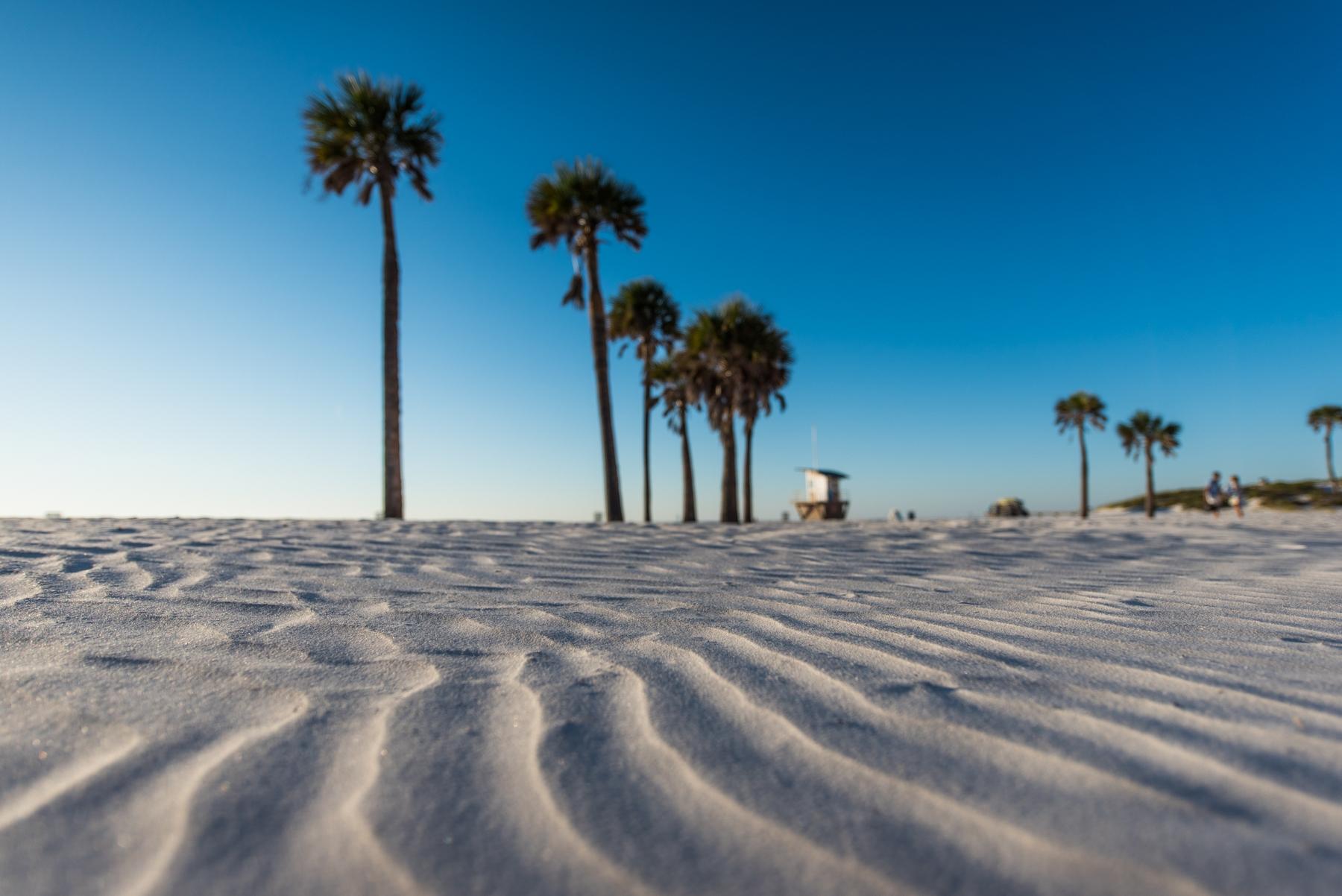 Ripples of sand on a beach