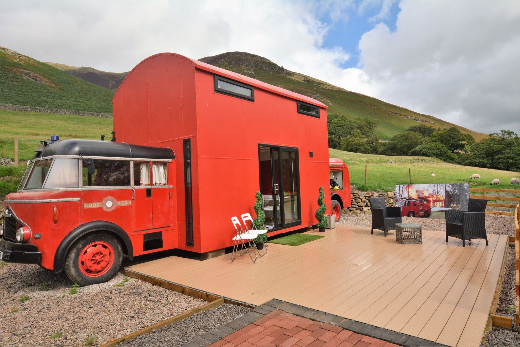 Red Alert Fire Engine in Keswick is one of the UK's most unusual hotels