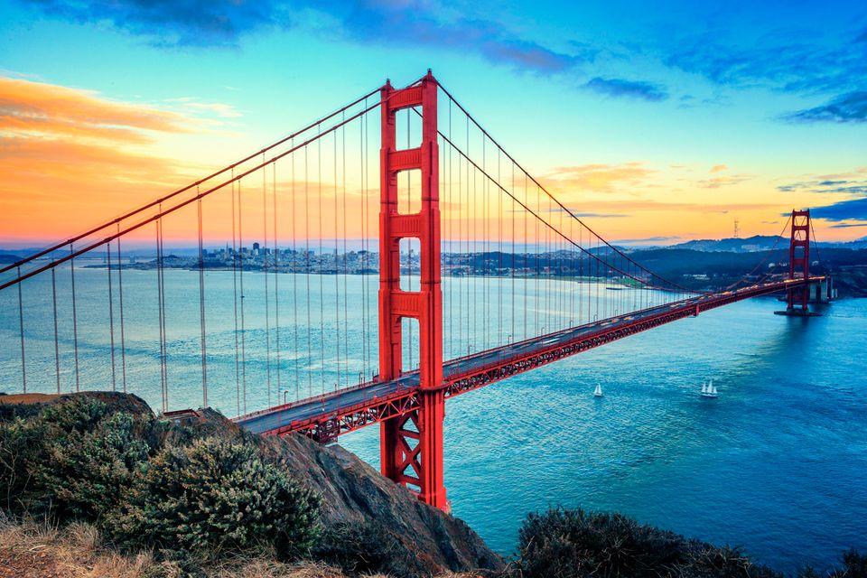 Die schönsten Orte Kaliforniens: Golden Gate Bridge, San Francisco