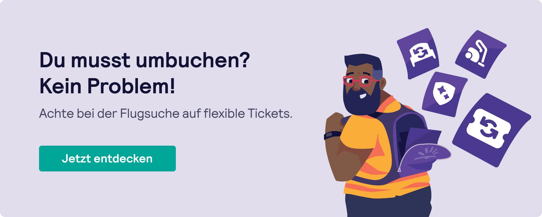 Skyscanner Suche nach flexiblen Tickets