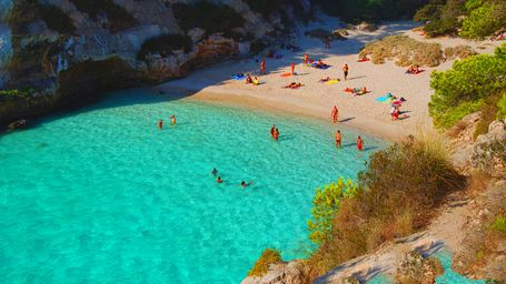 Menorca is a top destination for summer holidays in the Mediterranean.