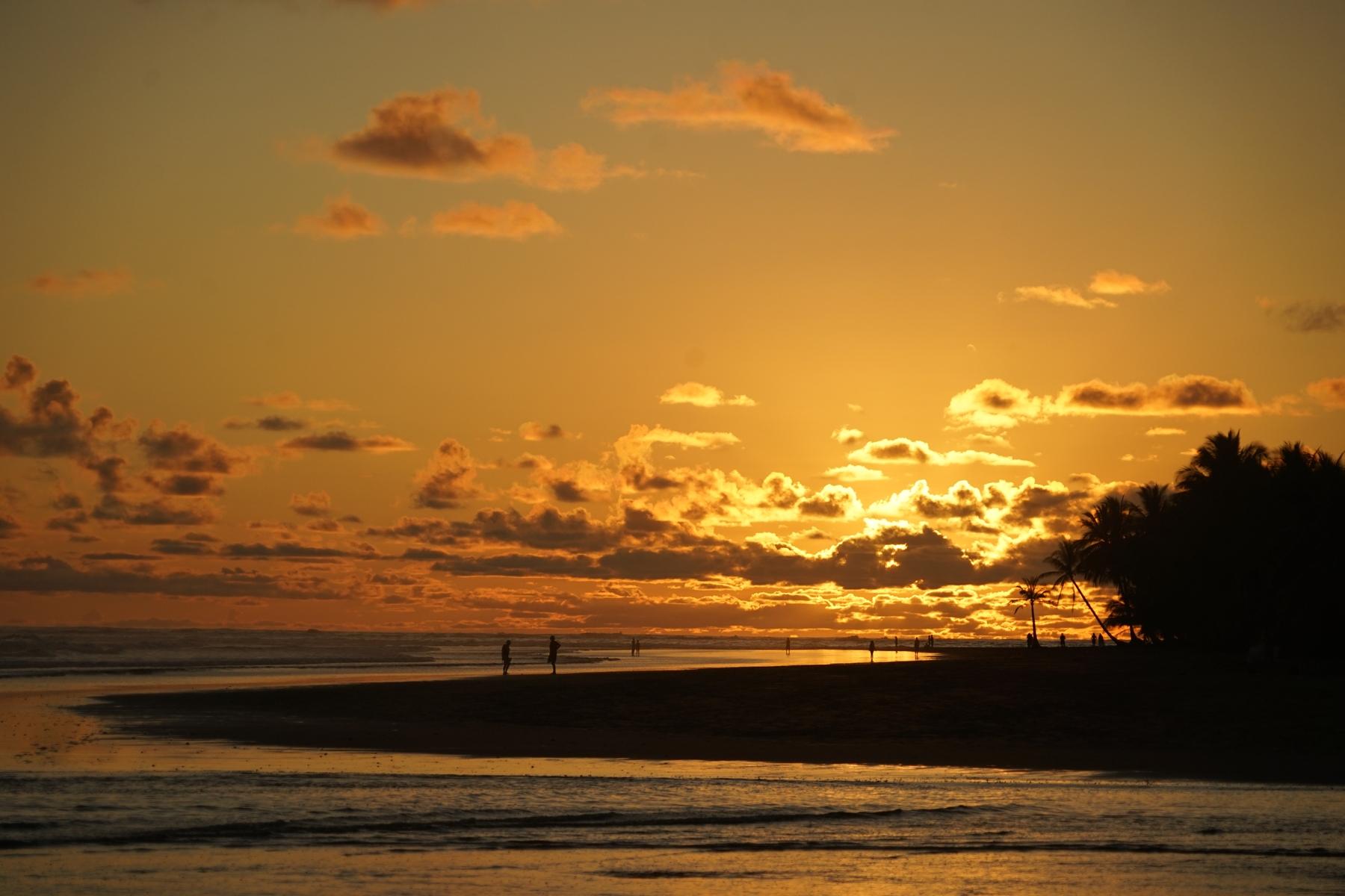 sunset uvita costa rica