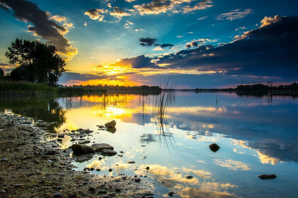 Pejzaż jeziora Rajgrodzkiego