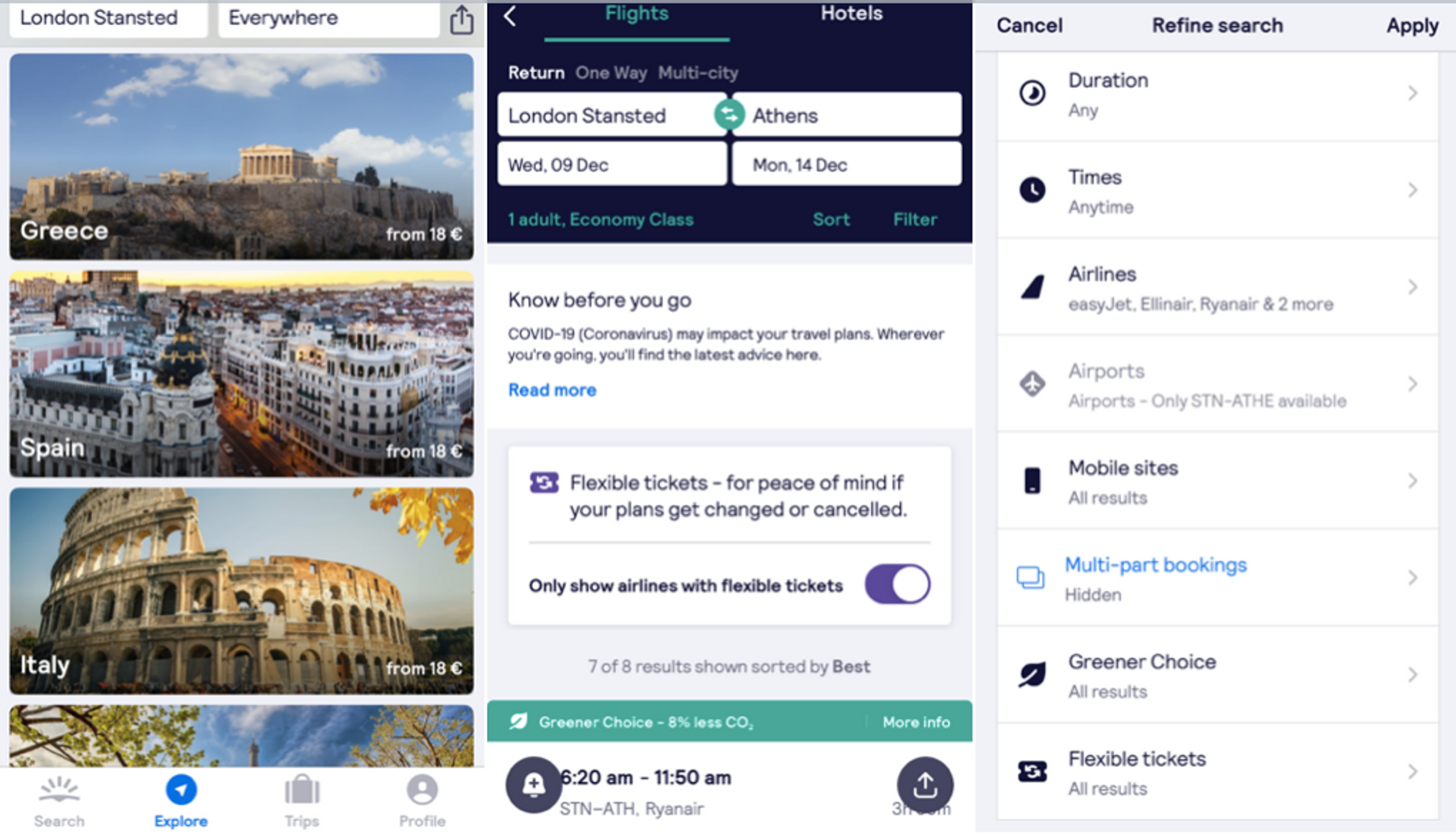 Filter flights for airline ratings while searching for Black Friday flight deals