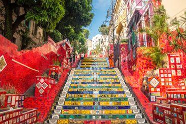 Лестница Селарона, Рио-де-Жанейро, Бразилия