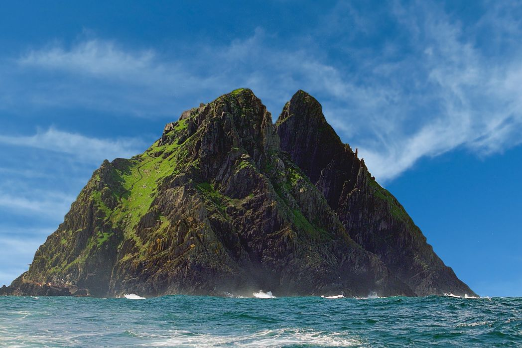 Skellig Michael served as a filming location for Star Wars in Ireland