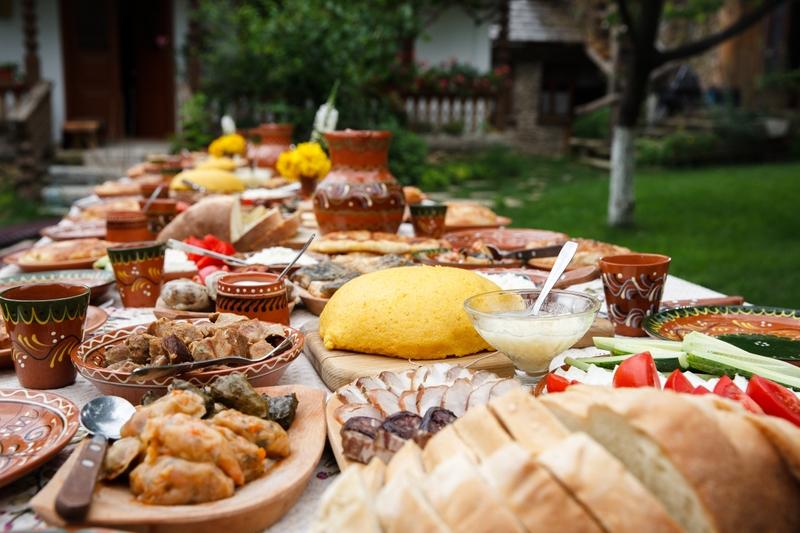 Новогоднее застолье в Молдавии