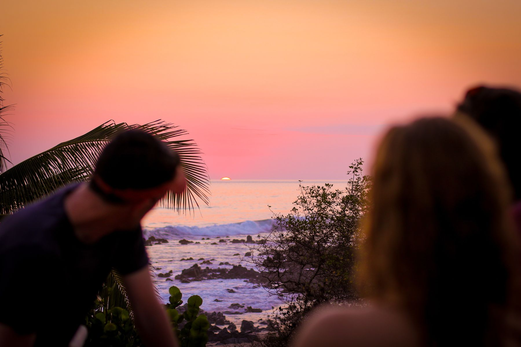 travellers watching the sunset in Troncones, Mexico. Travel and work remotely in Mexico.