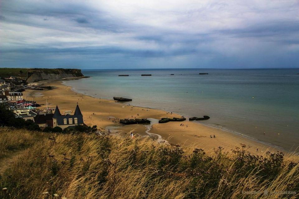 playas del desembarco en normandía - foto de viajeros callejeros