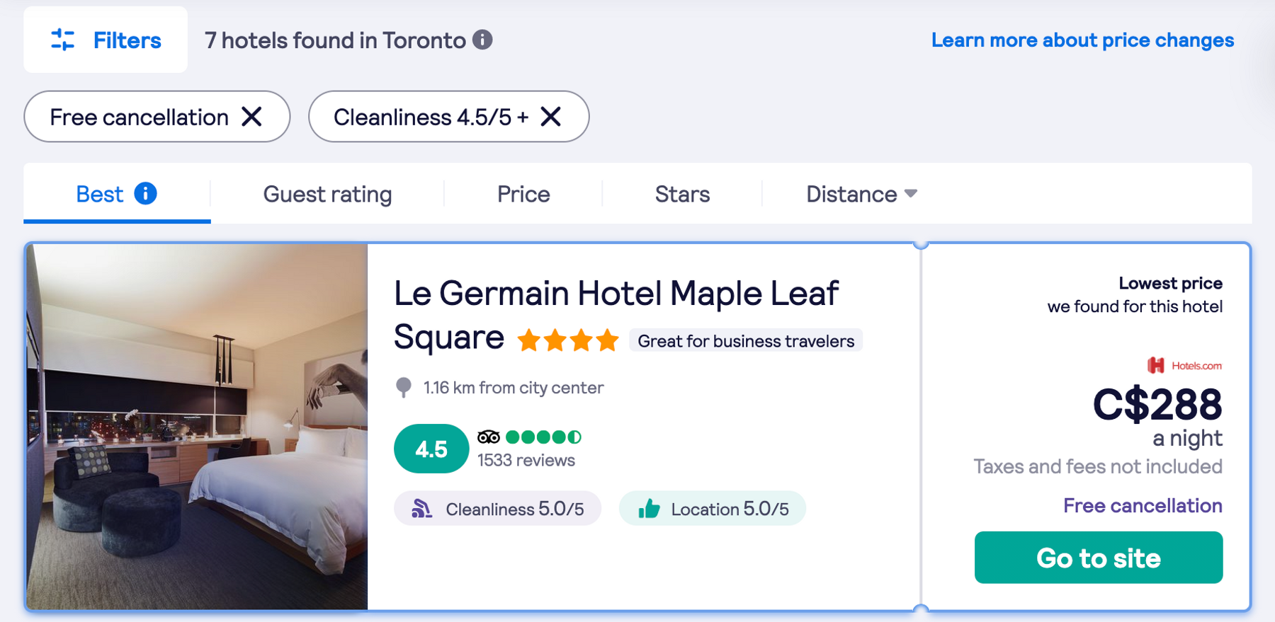 hotel search results skyscanner