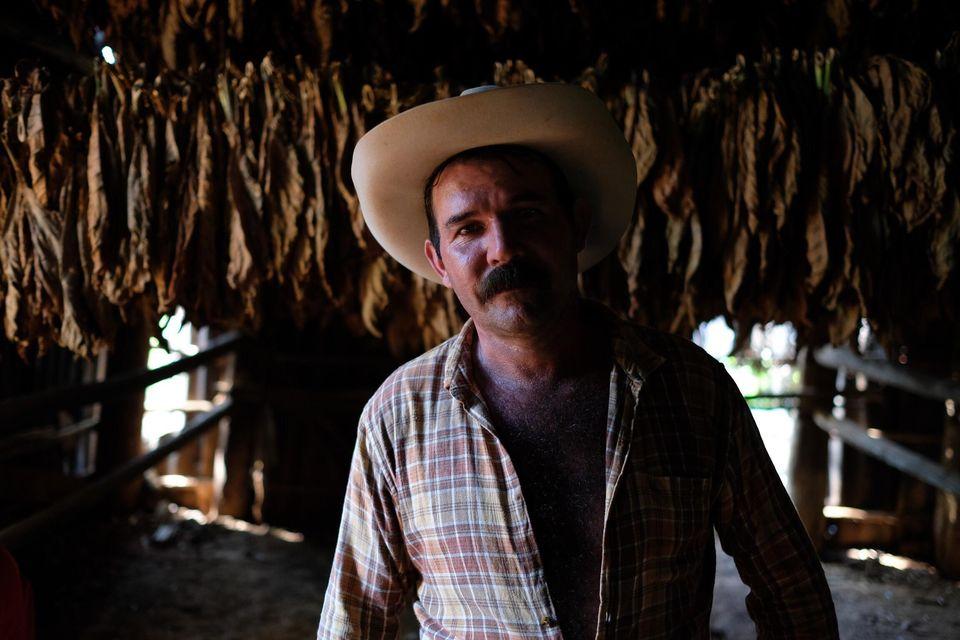 Ellio dans sa fabrique de cigars