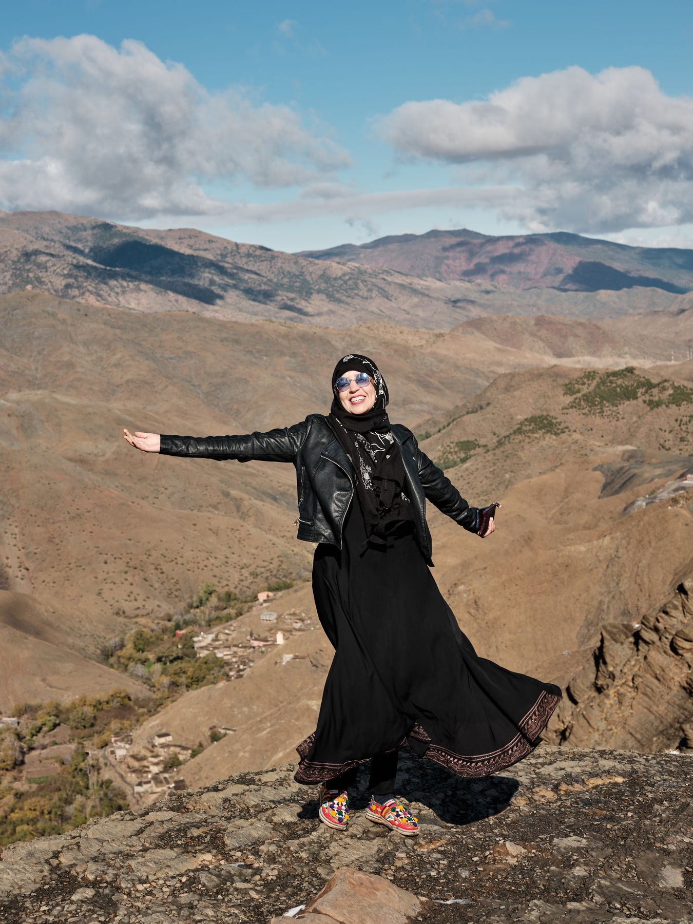 Chama Ouammi, the first female guide in Morocco's Aït Bouguemez valley