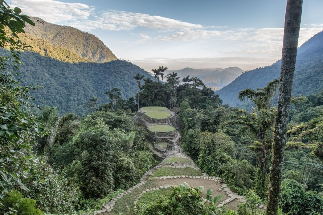 The Lost City of Ciudad Perdida in the Colombian rainforest