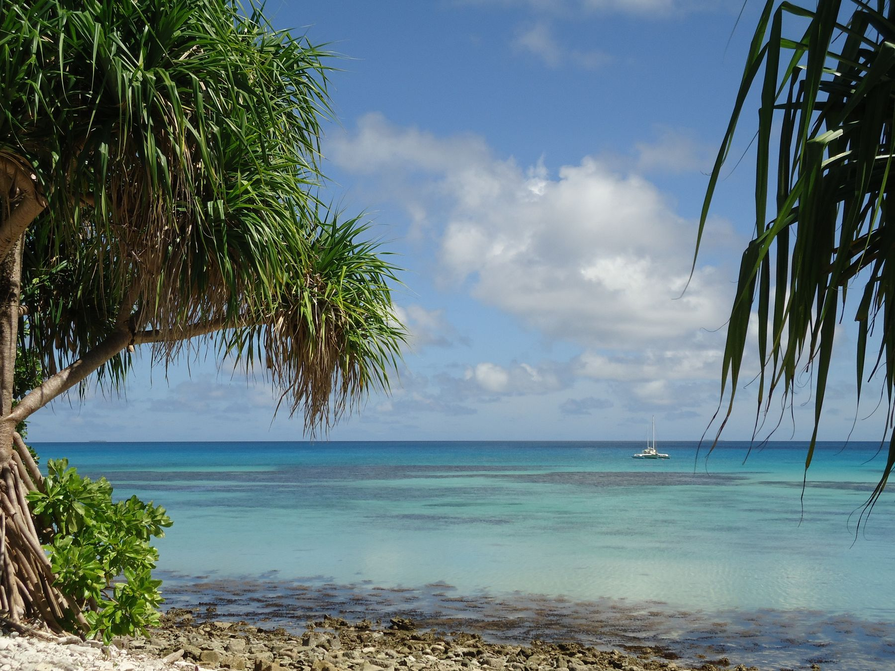 Nação insular de Tuvalu, um dos lugares menos visitados do mundo.